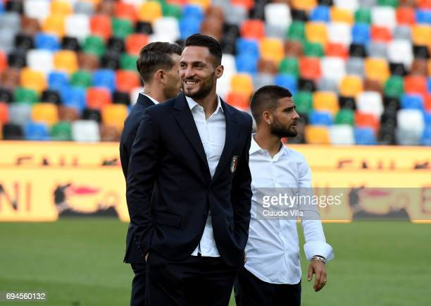 Danilo D'Ambrosio of Italy looks on during Italy walk around at Stadio Friuli on June 10 2017 in Udine Italy
