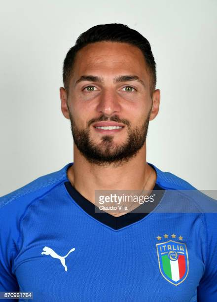 Danilo D'Ambrosio of Italy poses during the official portrait session at Coverciano on November 6 2017 in Florence Italy