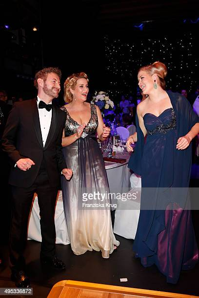 Danilo Friedrich Alexa Maria Surholt and a guest attend the Leipzig Opera Ball 2015 on October 31 2015 in Leipzig Germany