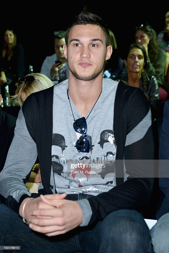 <a gi-track='captionPersonalityLinkClicked' href=/galleries/search?phrase=Danilo+Gallinari&family=editorial&specificpeople=4644476 ng-click='$event.stopPropagation()'>Danilo Gallinari</a> attends the Iceberg Spring/Summer 2013 fashion show as part of Milan Womenswear Fashion Week on September 21, 2012 in Milan, Italy.