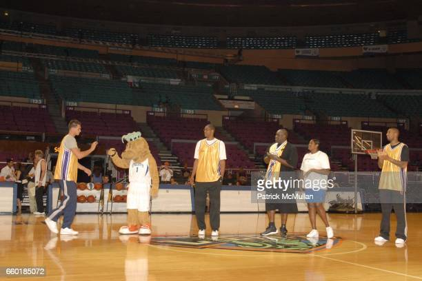 Danilo Gallinari Maddie Anthony Mason Charles Smith Kym Hampton and Wilson Chandler attend Seventh Annual Istar Charity Shootout at Madison Square...