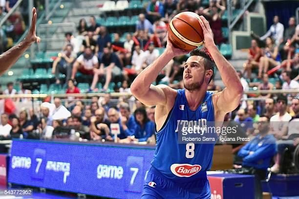 Danilo Gallinari of Italy Basketball National Team in action during the friendly match between Italy and Canada at PalaDozza on June 26 2016 in...