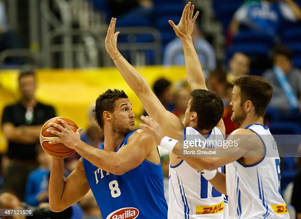Danilo Gallinari of Italy drives to the basket against Iceland during the FIBA EuroBasket 2015 Group B basketball match between Iceland and Italy at...