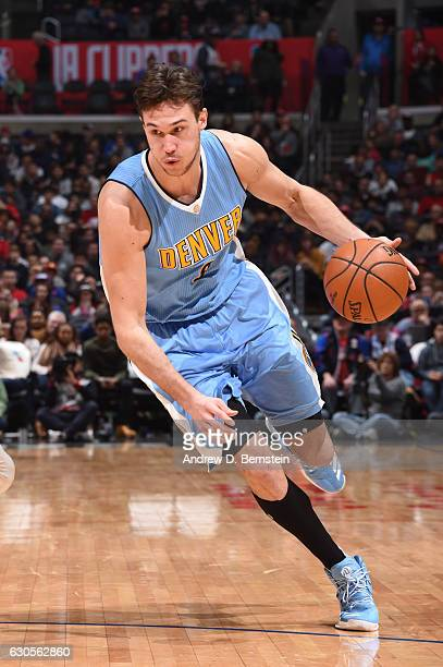 Danilo Gallinari of the Denver Nuggets drives to the basket during a game against the LA Clippers on December 26 2016 at the STAPLES Center in Los...