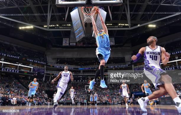 Danilo Gallinari of the Denver Nuggets dunks against the Sacramento Kings on March 11 2017 at Golden 1 Center in Sacramento California NOTE TO USER...
