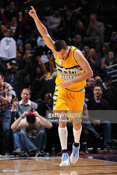 Danilo Gallinari of the Denver Nuggets during the game against the Los Angeles Clippers on December 19 2014 at Pepsi Center in Denver Colorado NOTE...