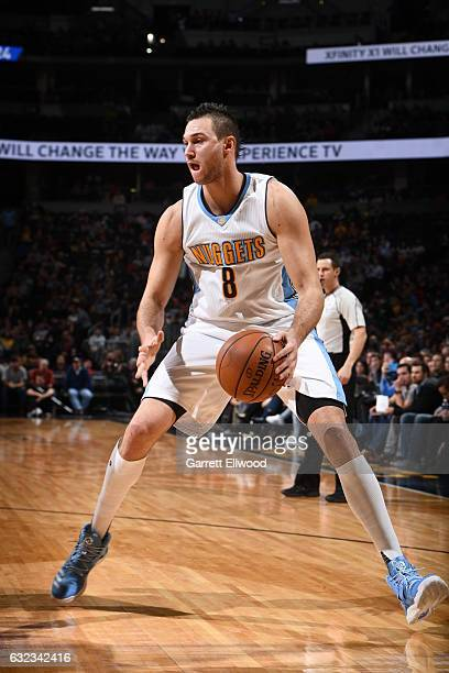 Danilo Gallinari of the Denver Nuggets handles the ball against the LA Clippers on January 21 2017 at the Pepsi Center in Denver Colorado NOTE TO...