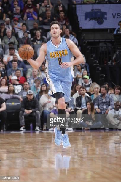 Danilo Gallinari of the Denver Nuggets handles the ball against the Sacramento Kings on March 11 2017 at Golden 1 Center in Sacramento California...