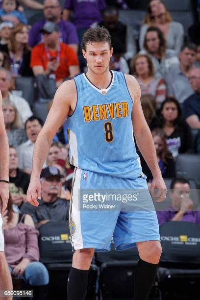 Danilo Gallinari of the Denver Nuggets looks on during the game against the Sacramento Kings on March 11 2017 at Golden 1 Center in Sacramento...