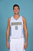 Danilo Gallinari of the Denver Nuggets pose for portraits during NBA Media Day on September 23 2014 at the Pepsi Center in Denver Colorado NOTE TO...