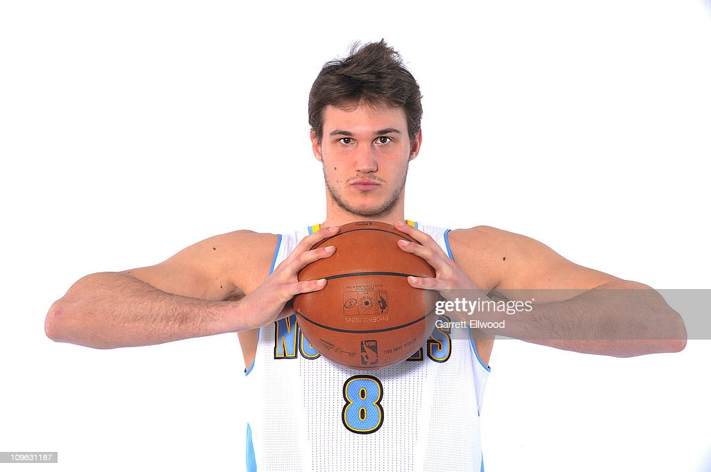 <a gi-track='captionPersonalityLinkClicked' href=/galleries/search?phrase=Danilo+Gallinari&family=editorial&specificpeople=4644476 ng-click='$event.stopPropagation()'>Danilo Gallinari</a> #8 of the Denver Nuggets poses for a photo on February 27, 2011 at the Pepsi Center in Denver, Colorado.