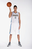 Danilo Gallinari of the Denver Nuggets poses for photos during media day on September 29 2014 at the Pepsi Center in Denver Colorado NOTE TO USER...