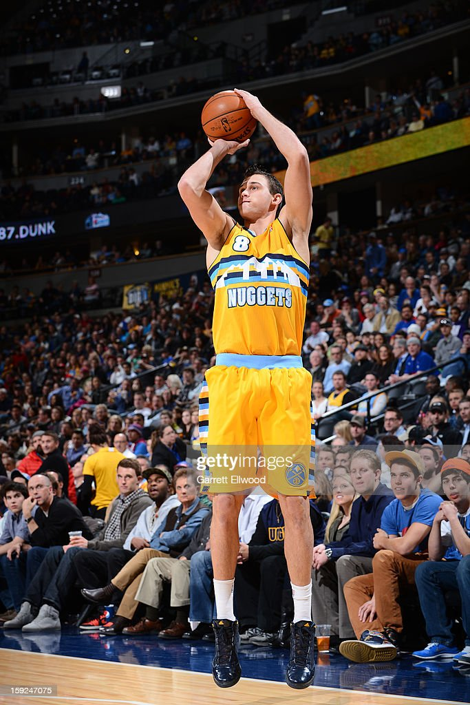 <a gi-track='captionPersonalityLinkClicked' href=/galleries/search?phrase=Danilo+Gallinari&family=editorial&specificpeople=4644476 ng-click='$event.stopPropagation()'>Danilo Gallinari</a> #8 of the Denver Nuggets shoots against the Orlando Magic on January 9, 2013 at the Pepsi Center in Denver, Colorado.