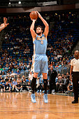 Danilo Gallinari of the Denver Nuggets shoots against the Orlando Magic on March 22 2015 at Amway Center in Orlando Florida NOTE TO USER User...