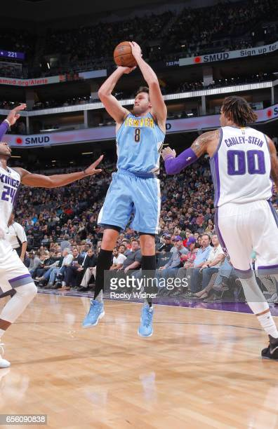 Danilo Gallinari of the Denver Nuggets shoots against the Sacramento Kings on March 11 2017 at Golden 1 Center in Sacramento California NOTE TO USER...