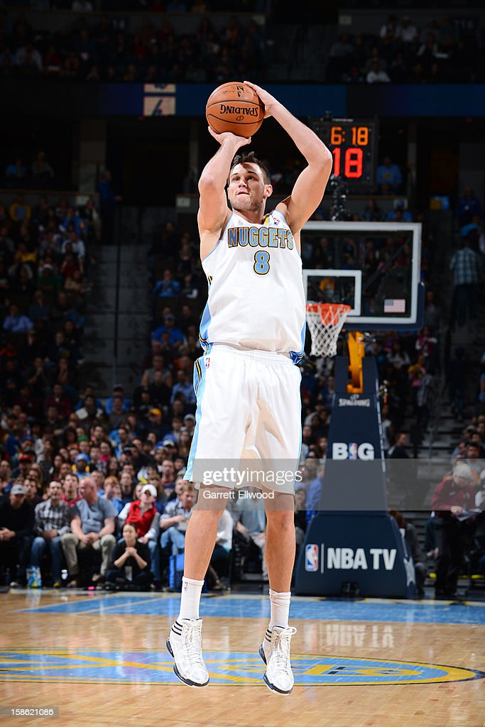 <a gi-track='captionPersonalityLinkClicked' href=/galleries/search?phrase=Danilo+Gallinari&family=editorial&specificpeople=4644476 ng-click='$event.stopPropagation()'>Danilo Gallinari</a> #8 of the Denver Nuggets shoots the ball against the Memphis Grizzlies on December 14, 2012 at the Pepsi Center in Denver, Colorado.