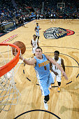 Danilo Gallinari of the Denver Nuggets shoots the ball during the game on November 17 2015 at the Smoothie King Center in New Orleans Louisiana NOTE...