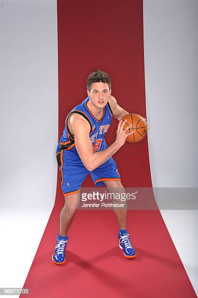 Danilo Gallinari of the New York Knicks and participant in the Foot Locker ThreePoint Shootout poses for a portrait during AllStar Saturday Night as...