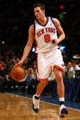 Danilo Gallinari of the New York Knicks drives to the basket against the Chicago Bulls at Madison Square Garden on December 22 2009 in New York City...