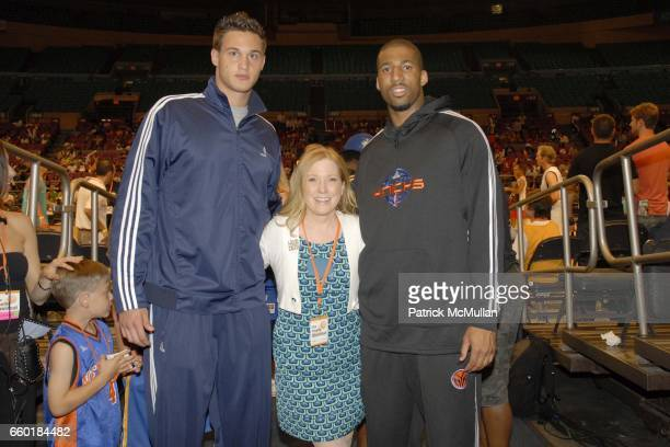 Danilo Gallinari Saranne Rothberg and Wilson Chandler attend Seventh Annual Istar Charity Shootout at Madison Square Garden on July 20 2009 in New...