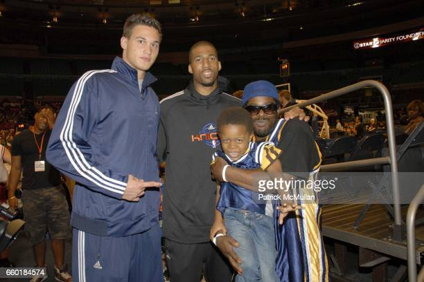 Danilo Gallinari Wilson Chandler Psyence and Kid Lucky attend Seventh Annual Istar Charity Shootout at Madison Square Garden on July 20 2009 in New...