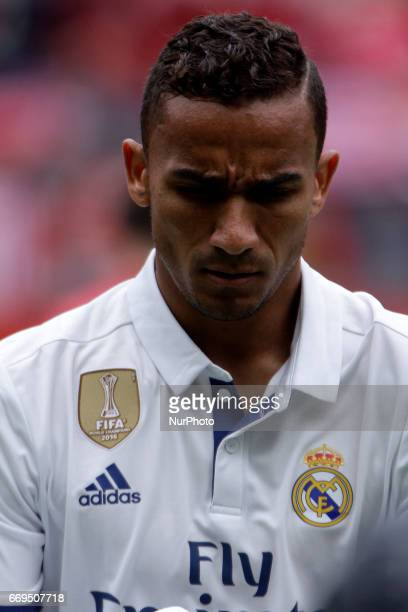 Danilo Luiz Da Silva defender of Real Madridd during the La Liga Santander match between Sporting de Gijon and Real Madrid at Molinon Stadium on...