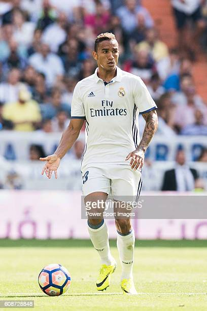 Danilo Luiz da Silva of Real Madrid in action during the La Liga match between Real Madrid and Osasuna at the Santiago Bernabeu Stadium on 10...