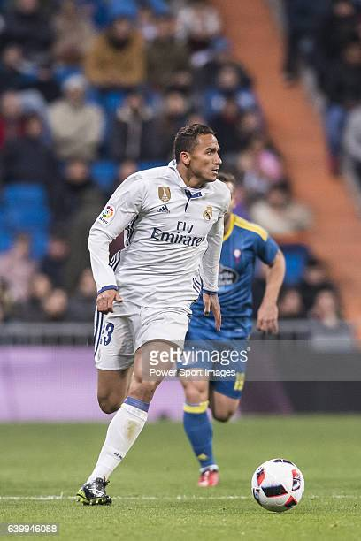 Danilo Luiz Da Silva of Real Madrid in action during their Copa del Rey 201617 Quarterfinal match between Real Madrid and Celta de Vigo at the...