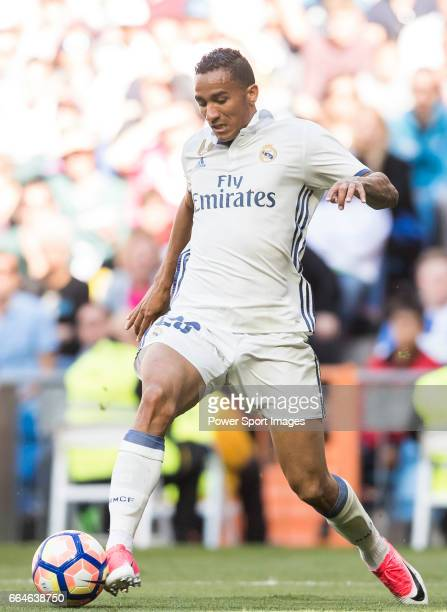 Danilo Luiz Da Silva of Real Madrid in action during their La Liga match between Real Madrid and Deportivo Alaves at the Santiago Bernabeu Stadium on...