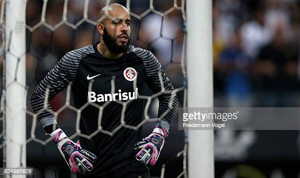 Danilo of Internacional reacts after the match between Corinthians and Internacional for the Brazilian Series A 2016 at Arena Corinthians on November...
