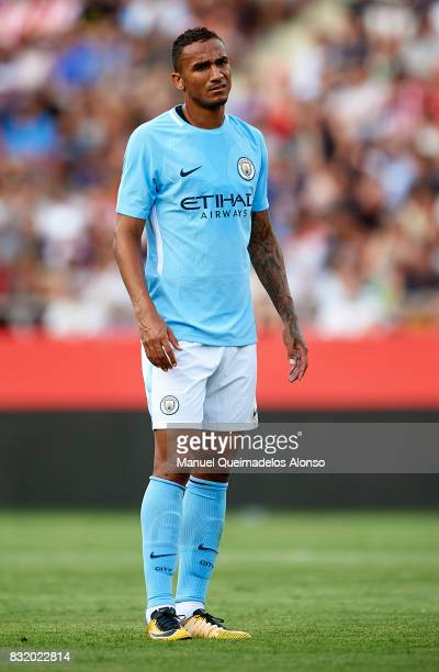 Danilo of Manchester City looks on during the preseason friendly match between Girona and Manchester City at Municipal de Montilivi Stadium on August...