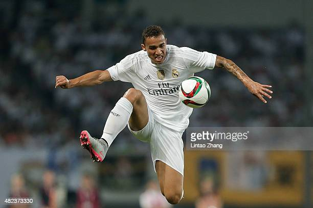 Danilo of Real Madrid in action during the International Champions Cup match between Real Madrid and AC Milan at Shanghai Stadium on July 30 2015 in...