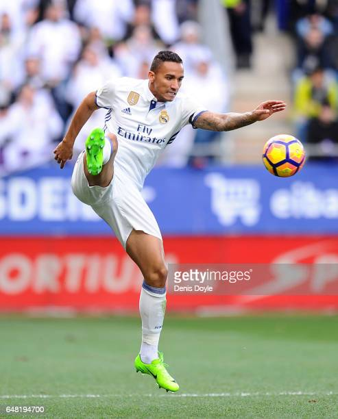 Danilo of Real Madrid in action during the La Liga match between SD Eibar and Real Madrid CF at Estadio Municipal de Ipurua on March 4 2017 in Eibar...