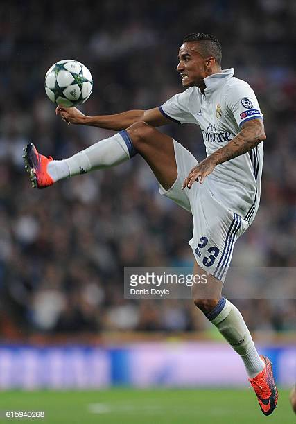 Danilo of Real Madrid in action during the UEFA Champions League Group F match between Real Madrid CF and Legia Warszawa at Santiago Bernabeu stadium...