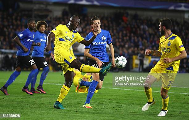 Danilo Pereira of FC Porto clears the ball away from Hans Vanaken of Club Brugge during the UEFA Champions League Group G match between Club Brugge...