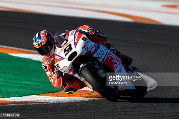 Danilo Petrucci during Motogp test day at Valencia circuit