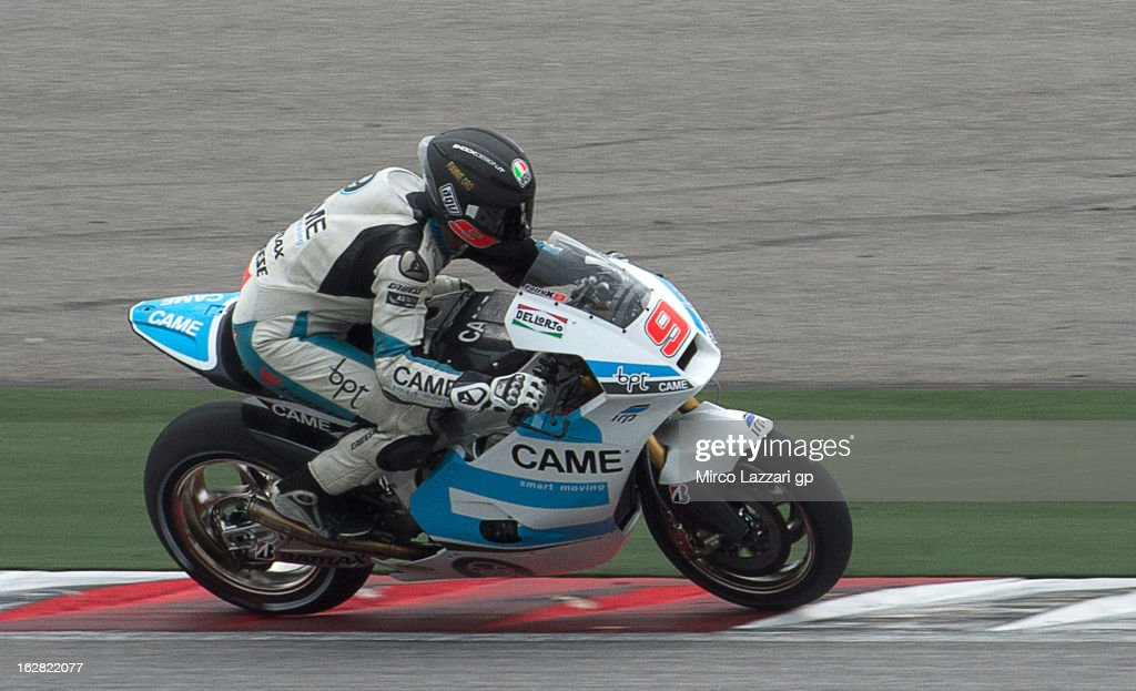 Danilo Petrucci of Italy and Came Iodaracing Project heads down a straight during MotoGP Tests in Sepang - Day Three at Sepang Circuit on February 28, 2013 in Kuala Lumpur, Malaysia.