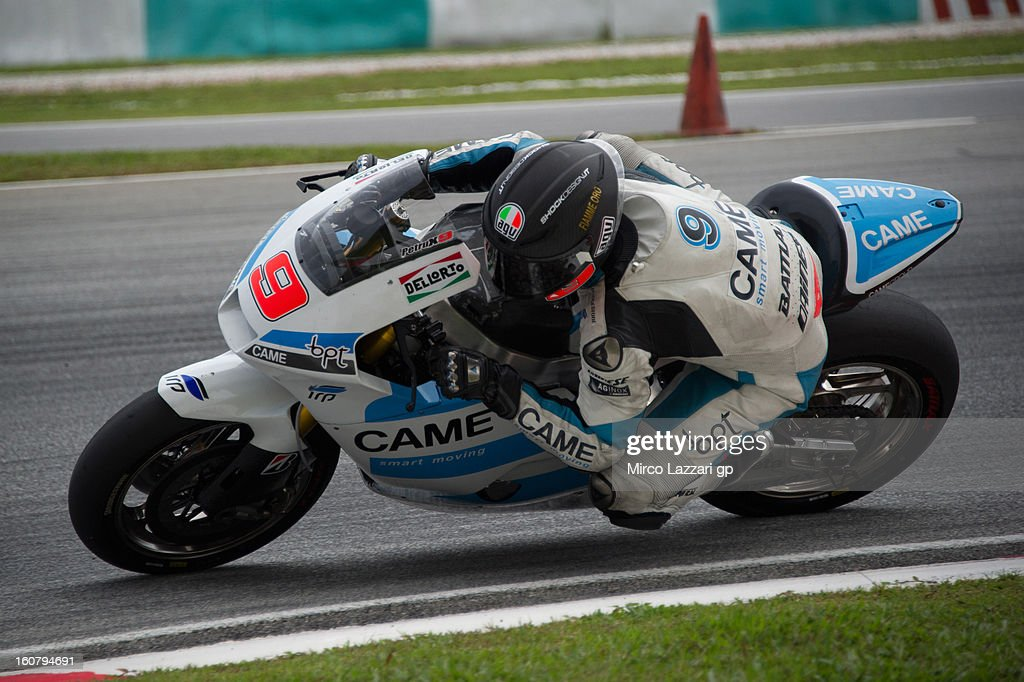 Danilo Petrucci of Italy and Came Iodaracing Project rounds the bend during the MotoGP Tests in Sepang - Day Four at Sepang Circuit on February 6, 2013 in Kuala Lumpur, Malaysia.