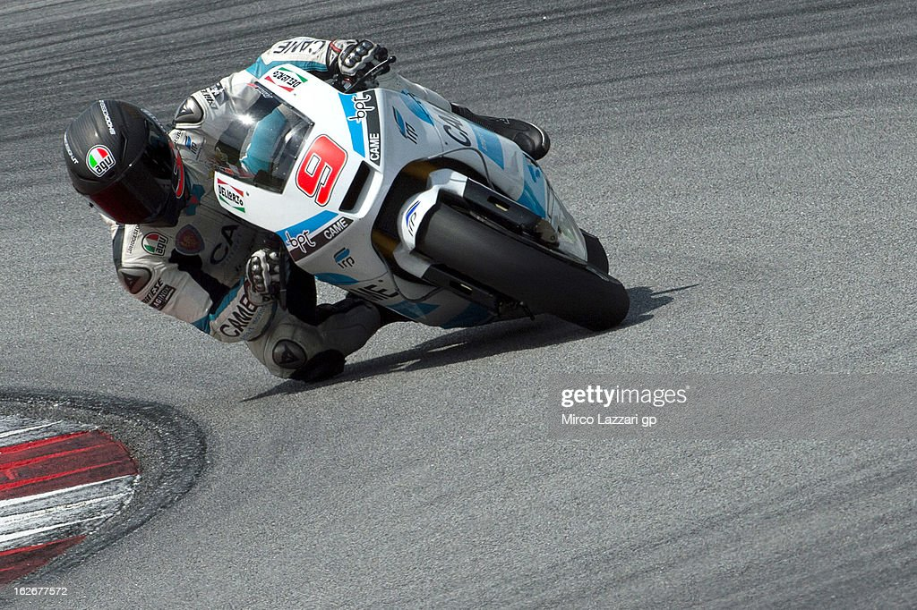 Danilo Petrucci of Italy and Came Iodaracing Project rounds the bend during day one of MotoGP Tests at Sepang Circuit on February 26, 2013 in Kuala Lumpur, Malaysia.