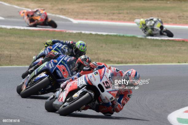 Danilo Petrucci of Italy and Octo Pramac Yakhnich leads the field during the MotoGP race during the MotoGp of Italy Race at Mugello Circuit on June 4...