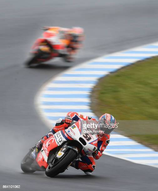 Danilo Petrucci of italy rides the OCTO PRAMAC RACING Ducati during practise ahead of qualifying for the 2017 MotoGP of Australia at Phillip Island...