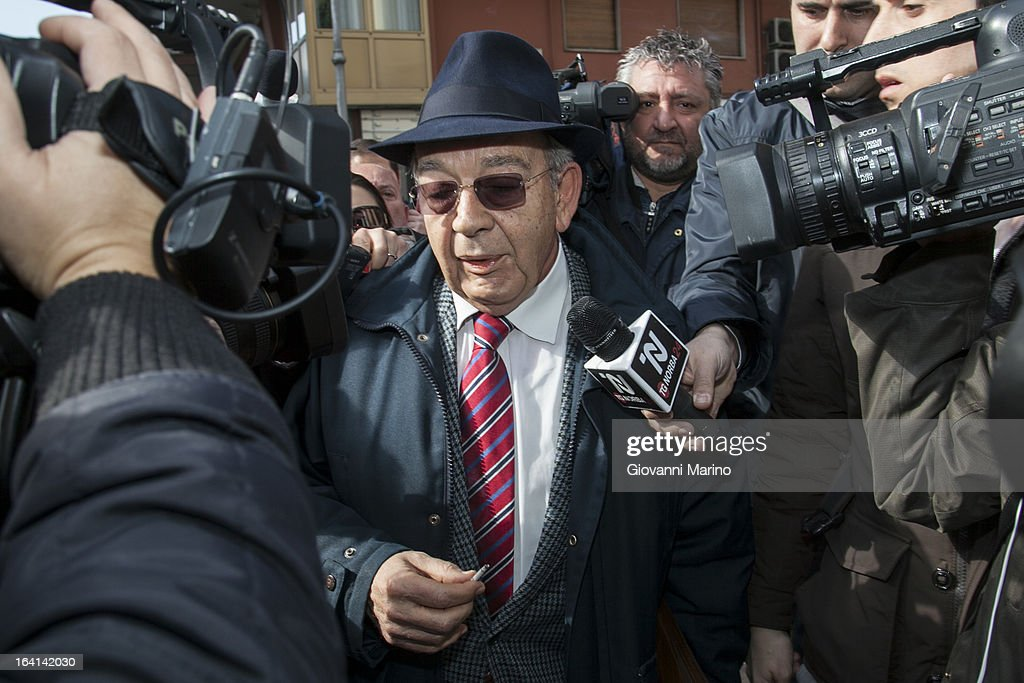 Danilo Restivo's lawyer Antonio Bargi attends court for an appeal hearing over Daniele Restivo conviction of the murder of Elisa Claps on March 20, 2013 in Salerno, Italy. Italian national Restivo is appealing against the conviction in his absence by an Italian court, whilst serving a life sentence in the UK for the murder of Heather Barnett in 2002. The body of 16-year-old Claps was found hidden in the roof of Santa Trinita Church, Potenza on March 18, 2010 following her disappearance in 1993.