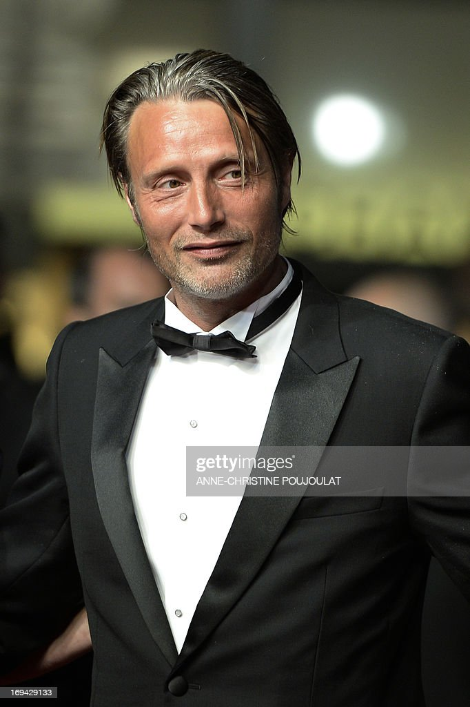 Danish actor Mads Mikkelsen arrives on May 24, 2013 for the screening of the film 'Michael Kohlhaas' presented in Competition at the 66th edition of the Cannes Film Festival in Cannes. Cannes, one of the world's top film festivals, opened on May 15 and will climax on May 26 with awards selected by a jury headed this year by Hollywood legend Steven Spielberg.