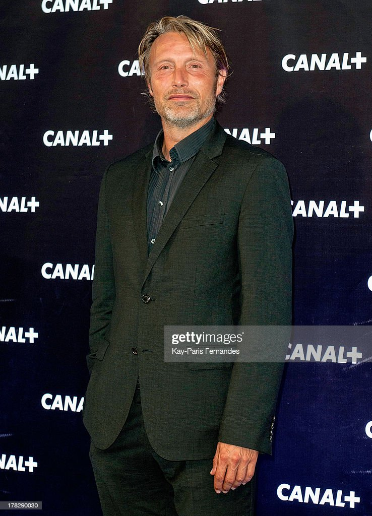 Danish Actor Mads Mikkelsen at the 'Rentree De Canal +' photocall at Porte De Versailles on August 28, 2013 in Paris, France.