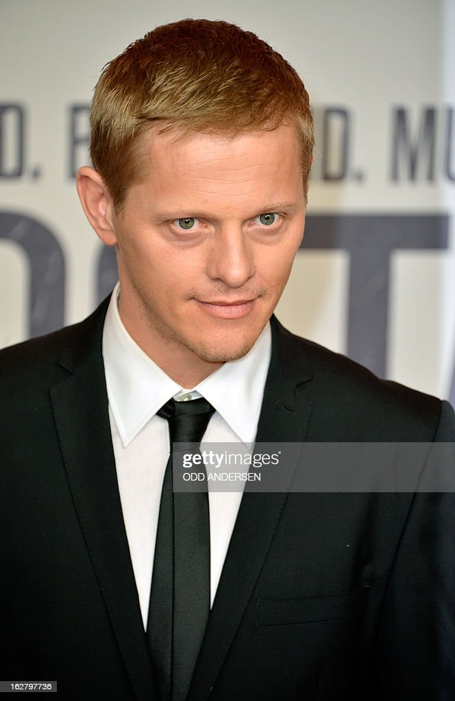 Danish actor Thure Lindthardt poses for photographers as he arrives for the screening of '3096 days', a film based on Kampusch story, on February 27, 2013 at in Berlin. The film, based on the ordeal of Natascha Kampusch, is on set to open on February 28, 2013 in the German cinemas.