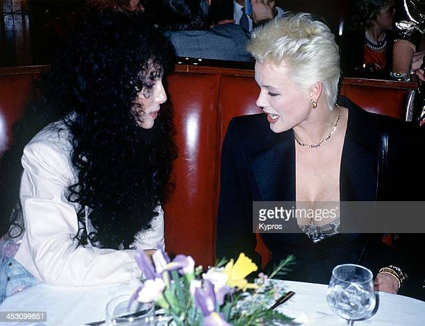 Danish actress Brigitte Nielsen with singer and actress Cher circa 1990