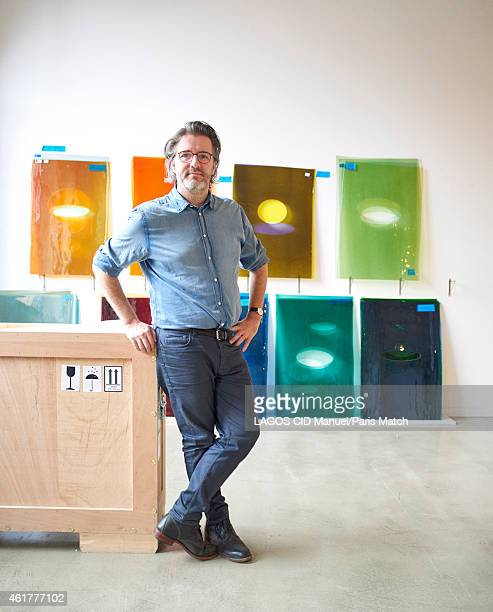 Danish artist Olafur Eliasson is photographed at his studio for Paris Match on November 19 2014 in Berlin Germany