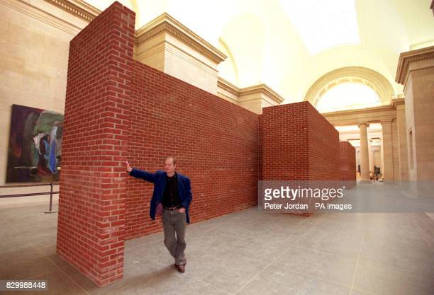Danish artist Per Kirkeby unveils a new brick sculpture constructed specially for the Tate Gallery at the launch today of a major exhibition of his...