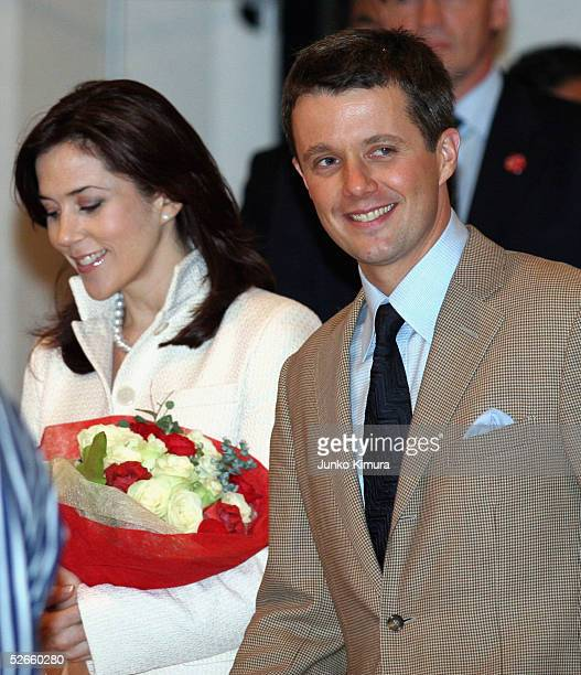 Danish Crown Prince Frederik and his wife Crown Princess Mary visit the Nordic Pavilion during the Danish National Day at the 2005 World Exposition...