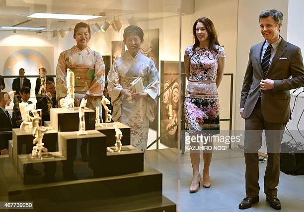 Danish Crown princess Mary and Crown Prince Frederik visit the official opening of the exhibition about Greenland 'Spiritual Greenland' with Japanese...